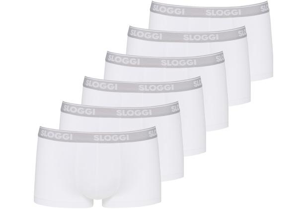 Sloggi men GO ABC Hipster 6er Pack white L