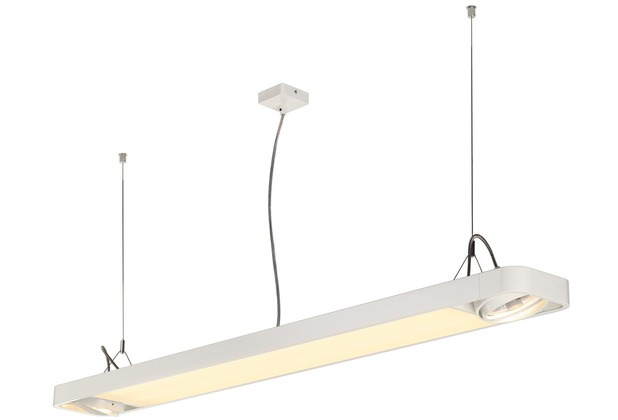 SLV AIXLIGHT R2 OFFICE LED LONG, Pendelleuchte, weiss, LED + 2xES111, max. 75W, 153cm weiß