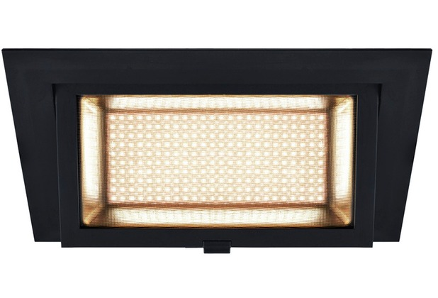 SLV ALAMEA LED Deckeneinbauleuchte, schwarz, 3000K, 35W