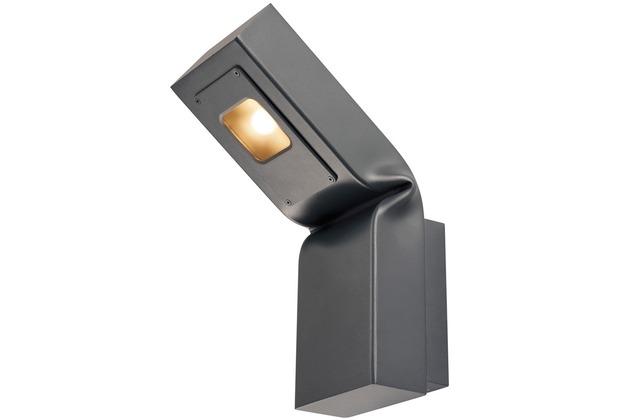 SLV BENDO, Outdoor Wandleuchte, LED, 3000K, anthrazit