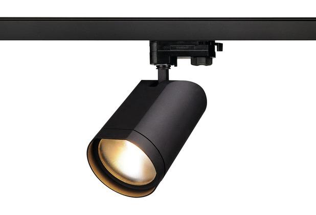 SLV BILAS SPOT 25° LED, rund, mattschwarz, 15W, 2700K, inkl. 3P.-Adapter schwarz matt