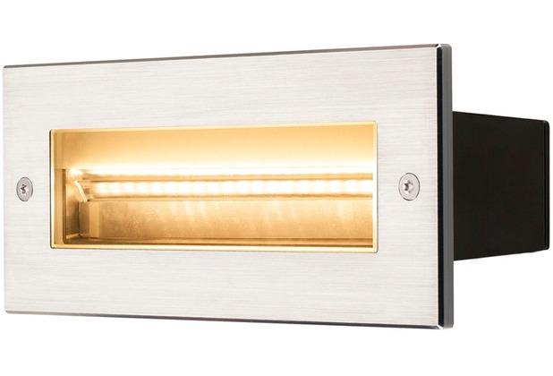 SLV BRICK, Outdoor Wandeinbauleuchte, LED, 3000K, edelstahl, 230V, IP67, 850lm, 10W