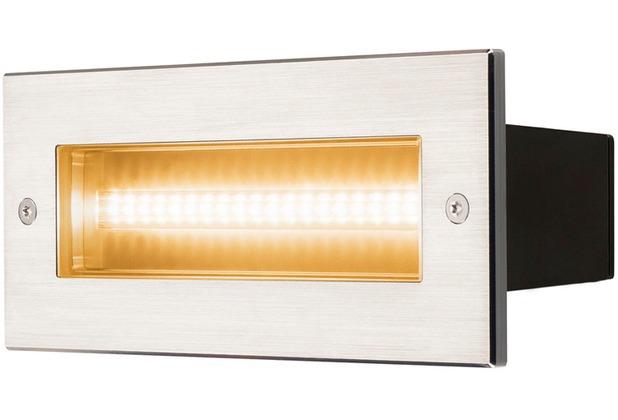 SLV BRICK, Outdoor Wandeinbauleuchte, LED, 3000K, edelstahl, IP67, 230V, 950lm 10W