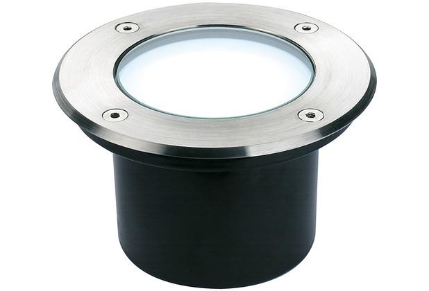 SLV DASAR 115 LED Bodeneinbau- strahler, Edelstahl 316, 3.8W, weiss, IP67 edelstahl