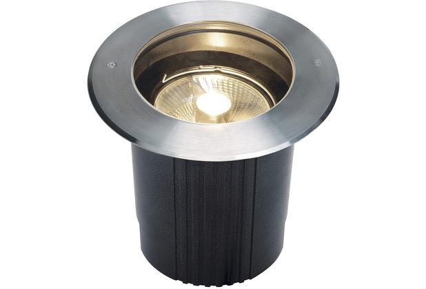 SLV DASAR ES111 Bodeneinbau- leuchte, rund, Edelstahl 316, max. 75W, IP67 edelstahl
