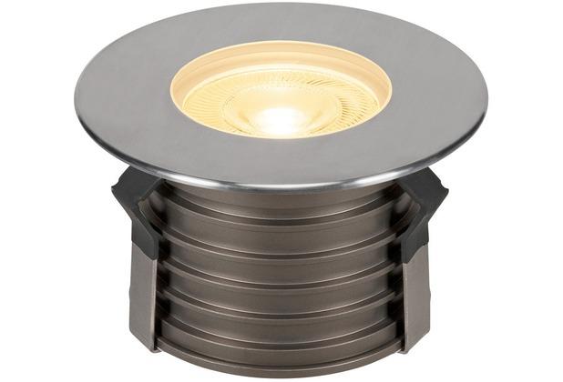 SLV DASAR PREMIUM HV, Bodeneinbau- leuchte, rund, 50W, 24°, 3000K edelstahl