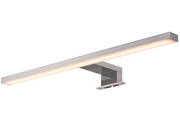 SLV DORISA LED Spiegelleuchte, lang, metall gebürstet, 4000K, IP44