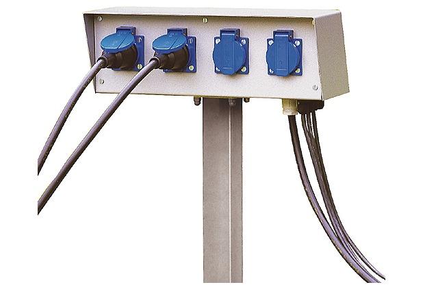 SLV ENERGIE-PACK, 230V, max. 16A, inkl. Erdspiess und Montageschrauben, IP54