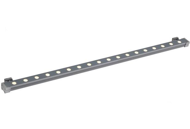 SLV GALEN LED PROFIL 100cm, silbergrau, 18x1W, warmweiss, IP65 silbergrau