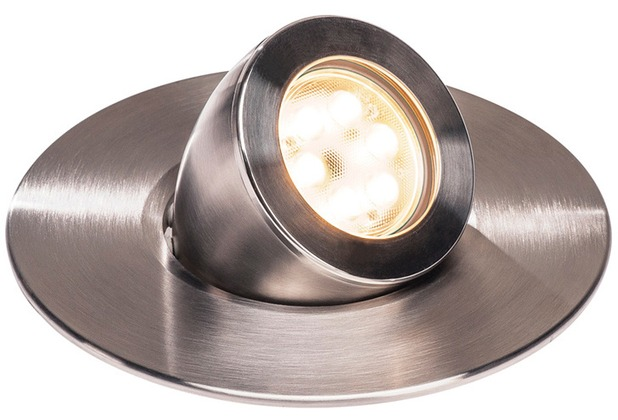 SLV GIMBLE OUT 150 LED Bodeneinbauleuchte, Edelstahl 316, 3000K, 36°, IP67