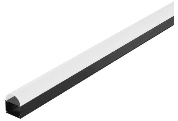 SLV GLENOS Industrial Profil Dome, mattschwarz, 2m schwarz matt