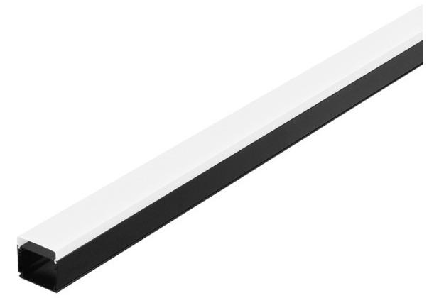 SLV GLENOS Industrial Profil Flat, mattschwarz, 2m schwarz matt