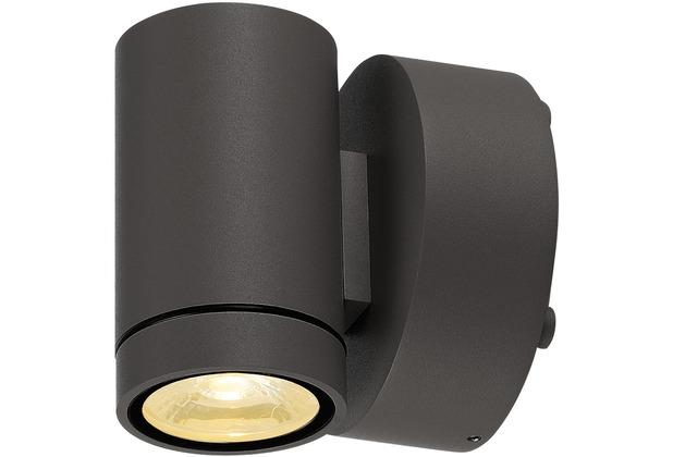 SLV GUNNSY WALL Downlight, sandy anthracite,8W LED, 3000K anthrazit