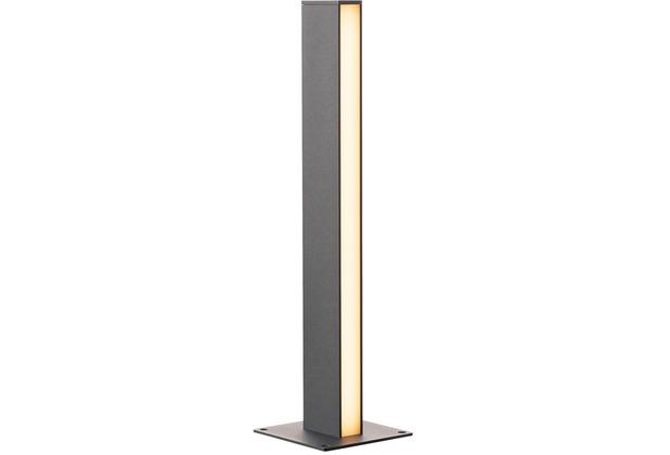 SLV H-POL, Wege- und Standleuchte, einflammig, LED, 3000K, anthrazit, L/B/H 16,5/16,5/66 cm