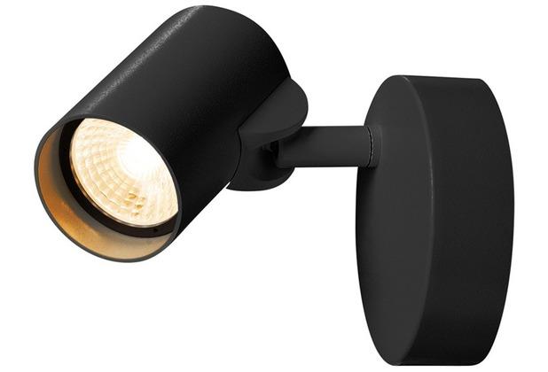 SLV HELIA LED Single Wand- und Deckenleuchte, 3000K, 35°, schwarz