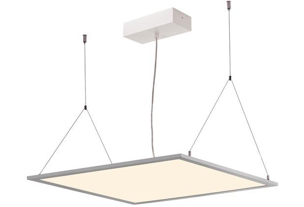 SLV I-VIDUAL, LED-Panel für Rasterdecken, 3000K, silbergrau, L/B 61,7/61,7 cm