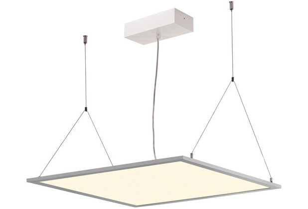 SLV I-VIDUAL, LED-Panel für Rasterdecken, 4000K, silbergrau, L/B 59,5/59,5 cm