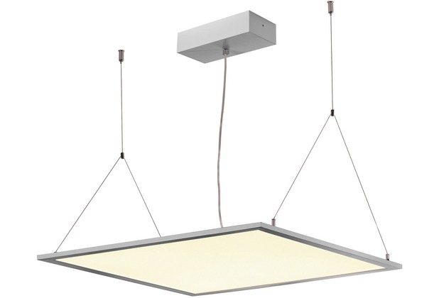 SLV I-VIDUAL PREMIUM LED Panel für Rasterdecken, 600x600mm, UGR<19, 4000K, silber silbergrau