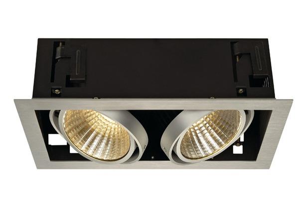 SLV KADUX LED DL Set, alu-brushed, 2x24W, 30°, 3000K, inkl. Treiber alu gebürstet