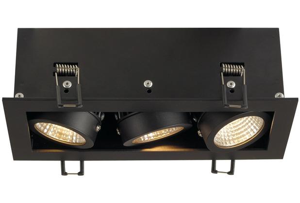 SLV KADUX LED DL Set, mattschwarz, 3x9W, 38°, 3000K, inkl. Treiber schwarz matt