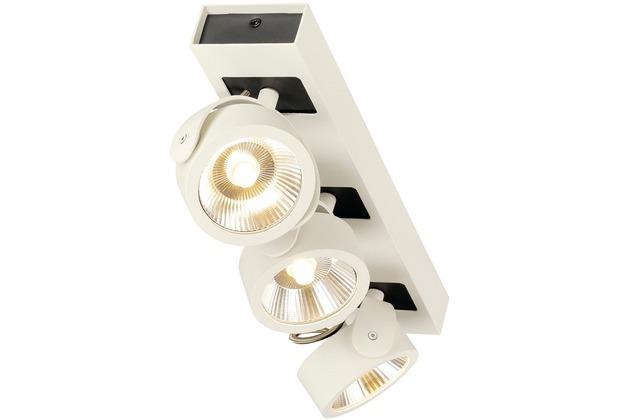 SLV KALU LED 3 Wand- und Deckenleuchte, weiss/schwarz, 3000K, 60°