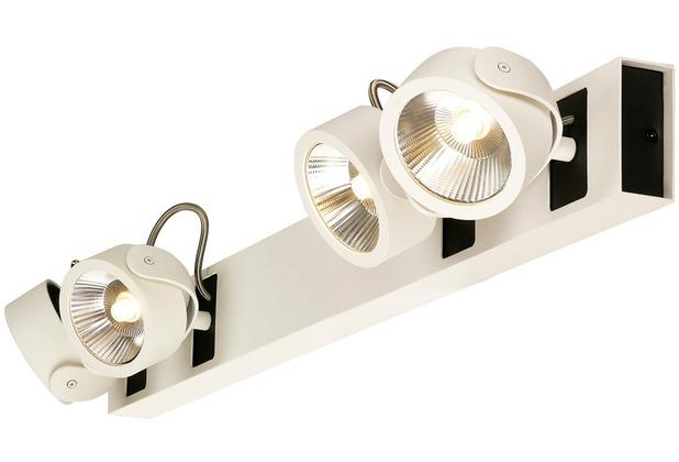 SLV KALU LED 4 Wand- und Deckenleuchte, long, weiss/schwarz, 3000K, 60°