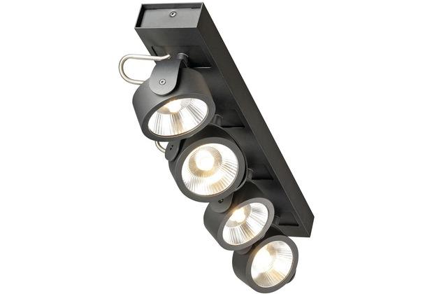 SLV KALU LED 4 Wand- und Deckenleuchte, schwarz, 3000K, 24°