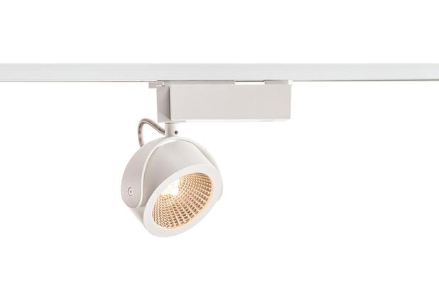 SLV KALU LED Strahler für 1Phasen Hochvolt-Stromschiene, 3000K, weiss/schwarz, 60°, inkl. 1 Phasen-Adapter