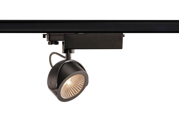SLV KALU LED Strahler für 3Phasen Hochvolt-Stromschiene, 3000K, schwarz, 60°, inkl. 3 Phasen-Adapter