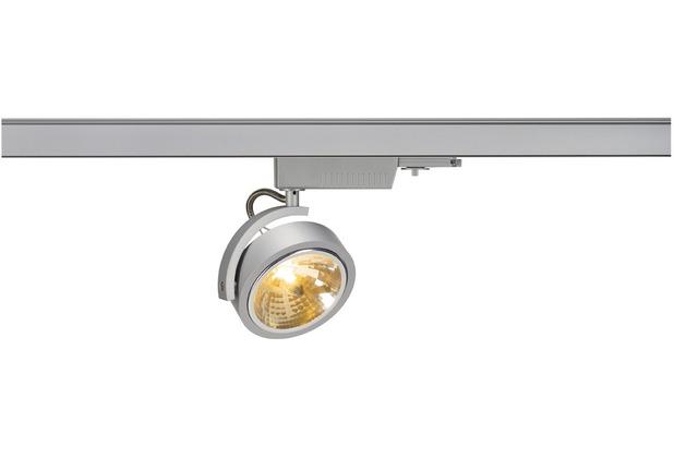 SLV KALU TRACK QRB111, silbergrau, max.50W, inkl. 3-P. Adapter silber