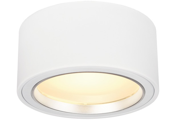 SLV LED AUFBAUSTRAHLER 1800lm, rund, weiss, 48 LED, 3000K weiß