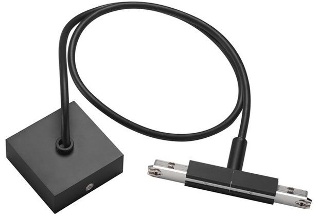 SLV MITTELEINSPEISER, für D-TRACK Hochvolt-Stromschiene 2Phasen, schwarz, mit 2m Kabel und Gehäuse