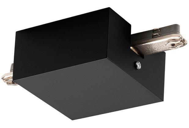 SLV MITTELEINSPEISER, für D-TRACK Hochvolt-Stromschiene 2Phasen, schwarz, mit Gehäuse