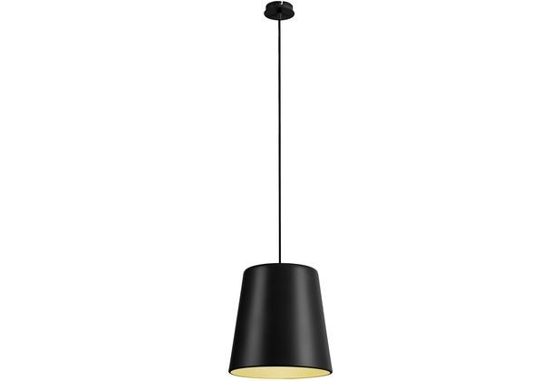 SLV NEW TINTO Pendelleuchte, mattschwarz/messing, E27 schwarz/gold