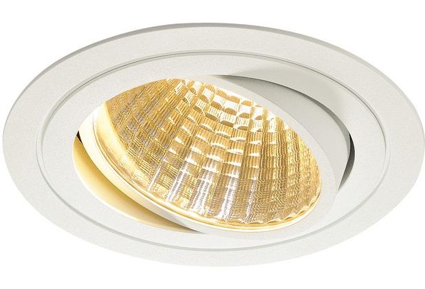 SLV NEW TRIA LED DL ROUND Set, mattweiss, 25W, 30°, 2700K, inkl. Treiber, Clipfed. weiß