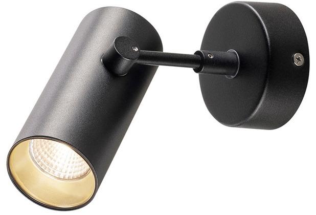 SLV REVILO LED Wand- und Deckenleuchte, schwarz, 3000K, 15°