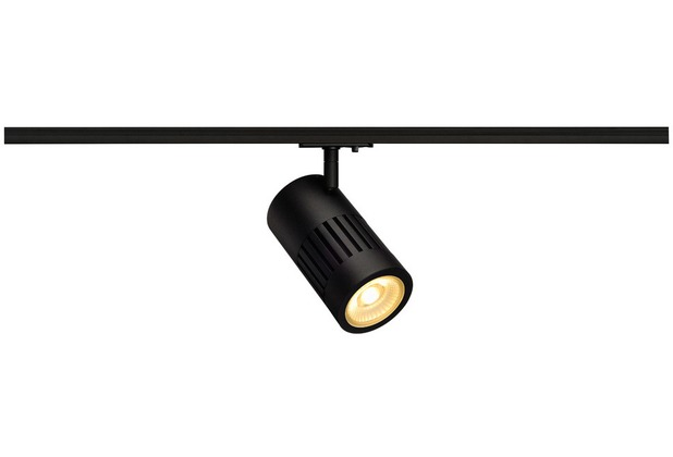 SLV STRUCTEC LED 24W, rund, schwarz, 3000K, 60°, inkl. 1P.-Adapter schwarz