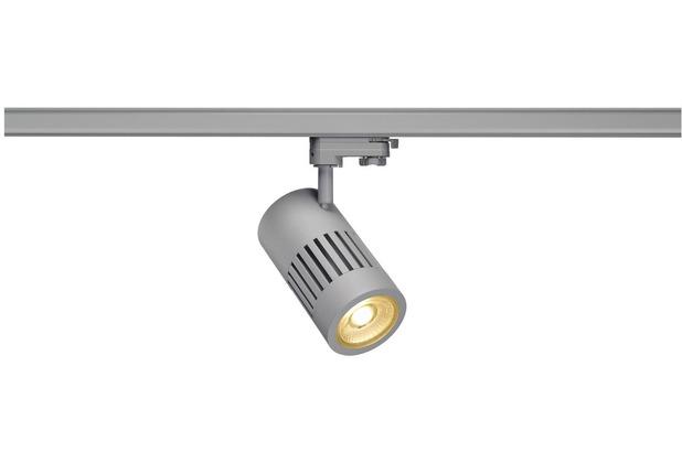 SLV STRUCTEC LED 24W, rund, silber, 3000K, 36°, inkl. 3P.-Adapter silber