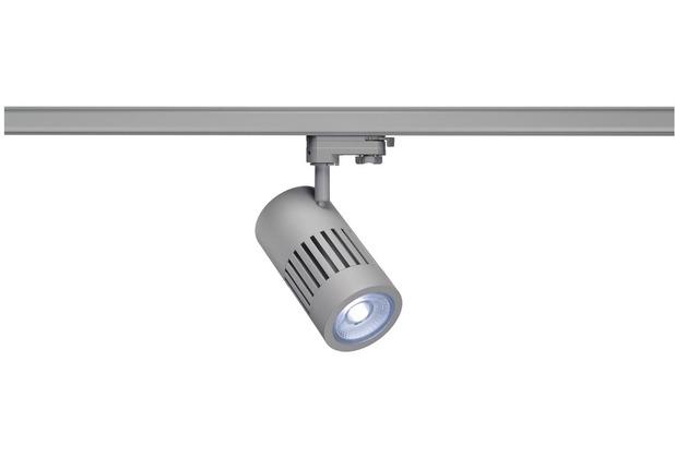 SLV STRUCTEC LED 24W, rund, silber, 4000K, 36°, inkl. 3P.-Adapter silber