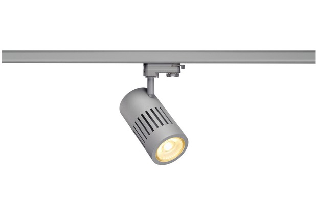 SLV STRUCTEC LED 30W, rund, silber, rich color, 60°, inkl. 3P.-Adapter silber