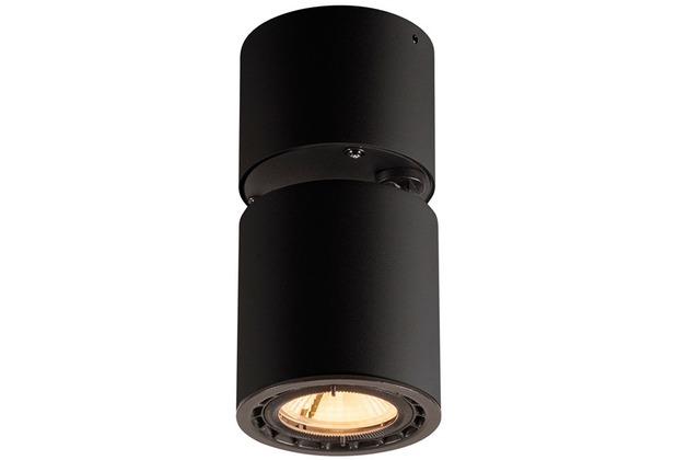 SLV SUPROS 78, Deckenleuchte, LED, 3000K, rund, schwarz, 60° Linse