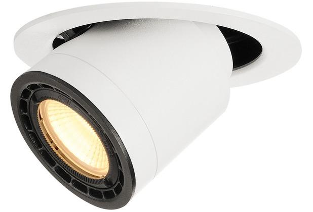 SLV SUPROS MOVE 78 Deckeneinbau- leuchte, rund, weiss, 3000K, 60° Linse weiß