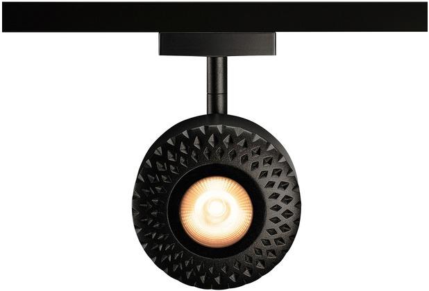 SLV TOTHEE LED Strahler für 2Phasen Hochvolt-Stromschiene, 3000K, schwarz, 50°, inkl. 2 Phasen-Adapter