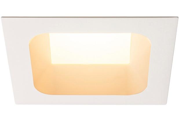 SLV VERLUX, Einbauleuchte, LED, 3000K, mattweiß, L/B/T 19/19/10 cm, 28W