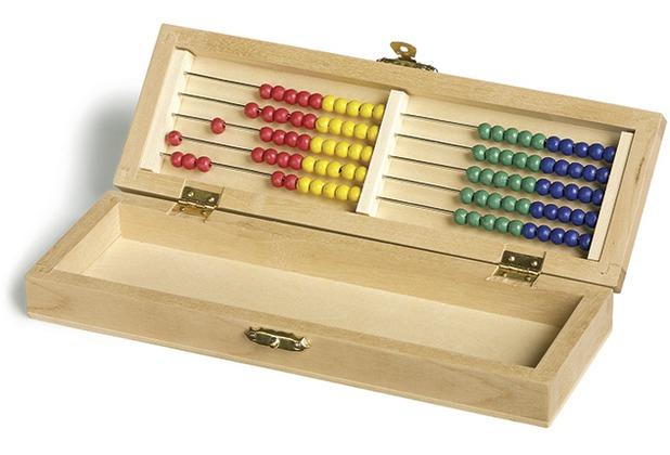 small foot Rechenrahmen in Bürobox (Rechenschieber Stiftebox Geschenkbox Einschulung)