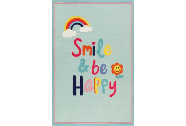 smart kids Kinderteppich Happy me! SM-4328-01 hellblau 120x170