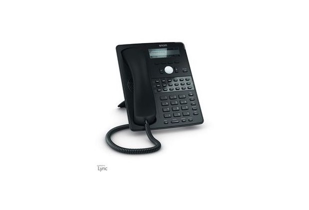 snom D725 VOIP Telefon (SIP), Gigabit o. Netzteil, schwarz