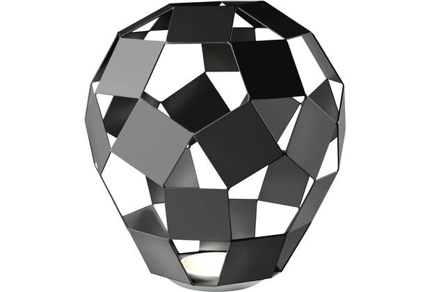 Sompex Tischleuchte Belly LED Metall schwarz H 27cm dimmbar