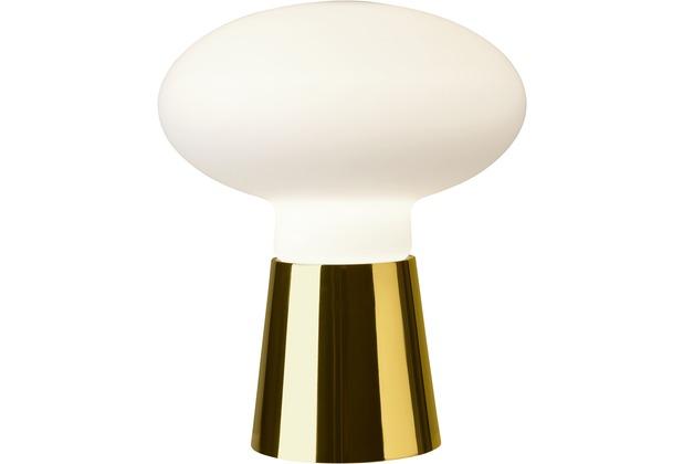 Sompex Tischleuchte Bilbao Glas gold/weiß H 24cm D 21cm