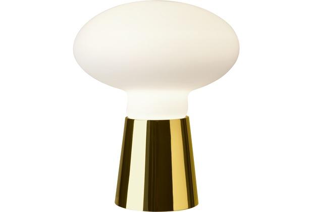 Sompex Tischleuchte Bilbao Glas gold/weiß H 42cm D 35cm